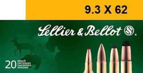 Sellier & Bellot 9.3 X 62 Mauser SP 285gr. Ammunition V332052U