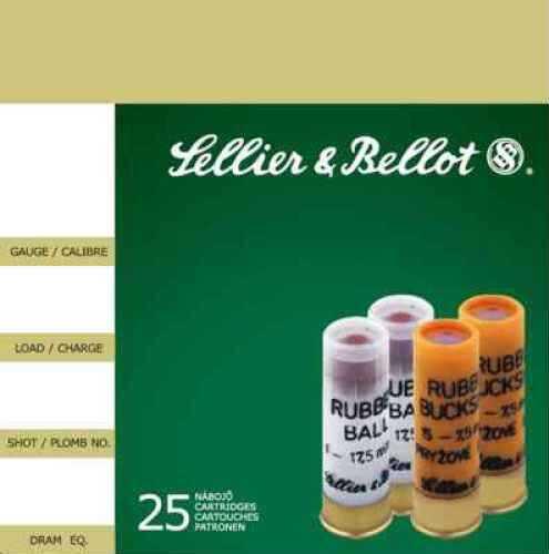 """MagTech Ammunition Co. Magtech Sellier & Bellot 12 Ga Rubber Ball Ammo 2.75"""" 2.7 25Bx/10Cs V075212U"""