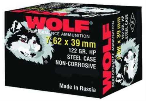Wolf Performance Ammo Wolf 7.62MM x 39MM 122 Grain Hollow Point Bi Metal Ammunition Md: 762BHP