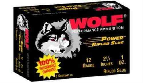 """Wolf Performance Ammo Wolf 12 Ga. 2 3/4"""" 1 oz Lead Slug buckshot 250 Rounds Ammunition Md: 12SLUG"""