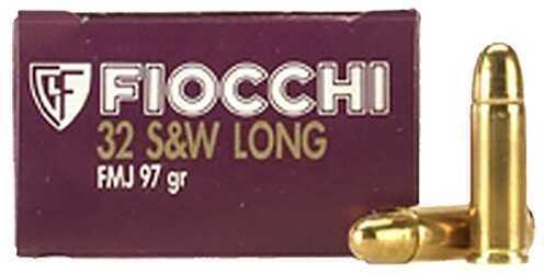Fiocchi Ammo Fiocchi Pistol Shooting 32 S&W Long Full Metal Jacket 97 GR (Per 50) 32SWLA