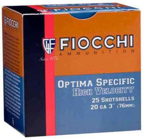 Fiocchi Ammo HIGH VEL 1 1/4 20 Gauge Per 25 Ammunition Case Price 250 Rounds 203HV75