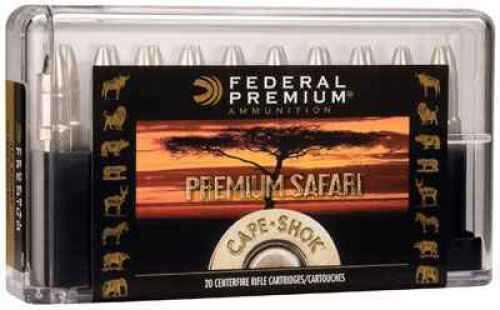 Federal Premium Cape-Shok 500 Nitro Express 570gr Barnes Triple Shock Ammunition P500NC