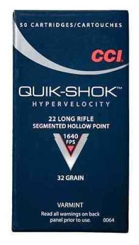 CCI 22 Long Rifle 32 Grain Hollow Point Ammunition Md: 0064 0064