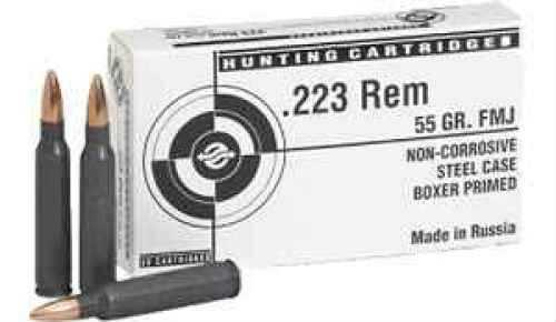 Tulammo 223 Remington 55 Gr FMJ Per 20 TA223550