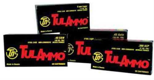 Tulammo 40 S&W Full Metal Jacket 180 Grain Ammunition, 50 Rounds Per Box