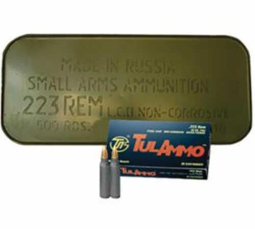 Tulammo 223 Remington/5.56 Nato FMJ 55 GR 500Rds TA223551