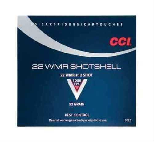 CCI/Speer Shotshell 22WMR 52 Grain Shotshell #12 20 Round Box 25