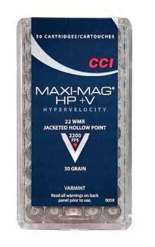 CCI/Speer Maxi-Mag 22WMR 30 Grain Jacketed Hollow Point +V 50 Round Box