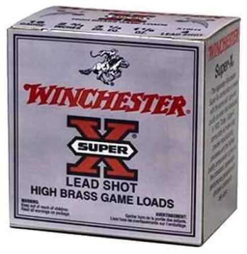 "Winchester 16 Ga. High Brass Game Load 2 3/4"" 1 1/8 oz #4 Lead Shot 25 Rounds Per Box Ammunition Case Price 250 X16H4"