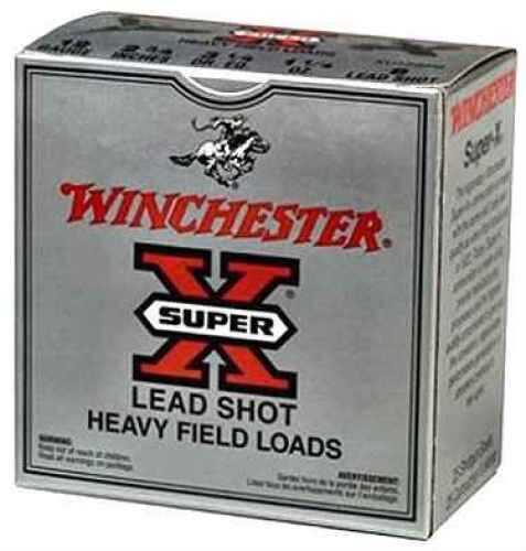 "Winchester Super-X Heavy Game 12 Ga. 2 3/4"" 1 1/8 oz #8 Lead Shot 25 Rounds Per Box Ammunition Case Price 250 R XU12H8"