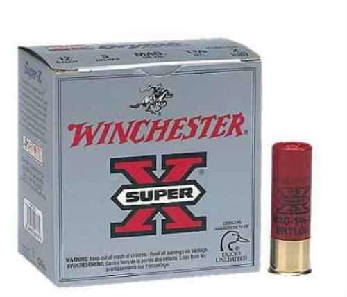 "Winchester 12 Ga. 2 3/4"" 1 1/4 oz #4 Super X Drylok Super Steel 25 Rounds Per Box Ammunition Case Price 250 Rou XSM124"