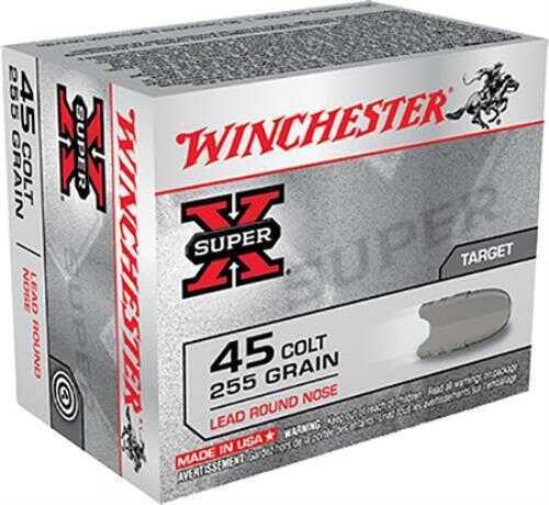 Winchester 45 Colt 255 gr Super-X Lead Round Nose Per 20 X45CP2 Ammo