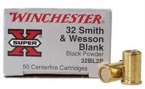 Winchester 32 Smith & Wesson(Blanks) 32 S&W, 0gr, Black Powder, (Per 50), Blanks 32BL2P