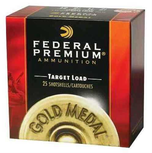 "Federal Cartridge Federal Gold Medal Target 12 Ga. 2 3/4"" 1 1/8 oz #8 Lead Shot 25 Rounds Per Box Ammunition Case Pric T1158"