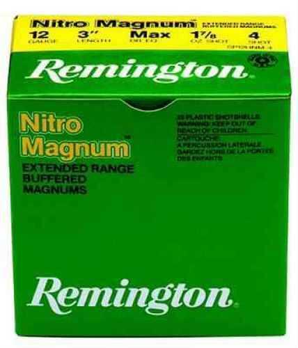 "Remington Nitro Heavy Magnum 20 Ga. 3"" 1 1/4 oz #4 Lead Shot 25 Rounds Per Box Ammunition Case Price 250 Round NM20H4"