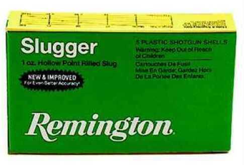 "Remington 12 Gauge 1 Oz Lead Slug 2 3/4"" Magnum Sluger 5 Rounds Ammunition"