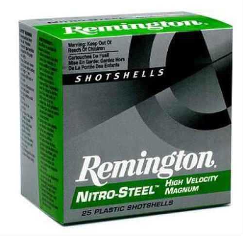 "Remington Nitro High Velocity 12 Ga. 3"" 1 1/8 oz #2 Steel Shot 25 Rounds Per Box Ammunition Md: NS12 NS12HV2"