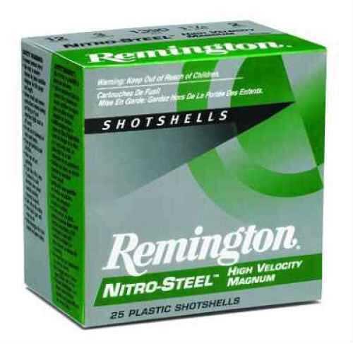 "Remington Nitro Magnum 12 Ga. 3"" 1 1/4 oz #BB Steel Shot 25 Rounds Per Box Ammunition Md: NS12MB Case Price 25 NS12MB"