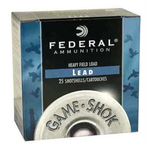 "Federal Cartridge Heavy Field 12 Ga. 2 3/4"" 1 1/4 oz #6 Lead Shot 25 Rounds Per Box Ammunition Md: H1256 Case Price 25 H1256"