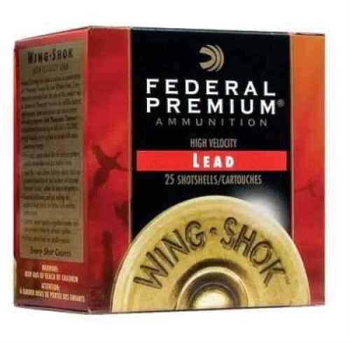 "Federal Cartridge Wing Shok High Velocity 12 Ga. 2 3/4"" 1 1/8 oz #4 Lead Shot 25 Rounds Per Box Ammunition Case Price P1284"