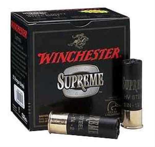 "Winchester Supreme High Velocity 12 Ga. 3"" 1 1/4 oz #4 Steel Shot 25 Rounds Per Box Ammunition Case Price 250 R SSH1234"