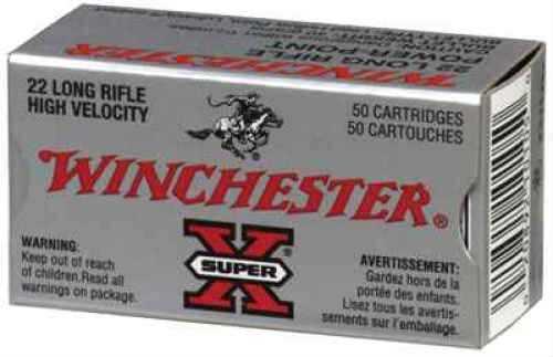 Winchester 22 Long Rifle 40gr ,Super-X, Power Point Lead Hollow Point, (Per 50) X22LRPP