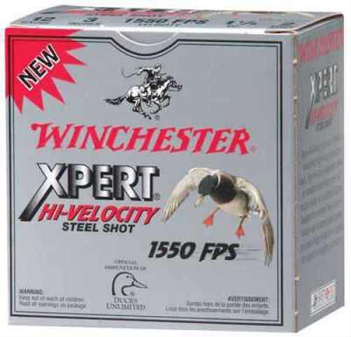 "Winchester 12 Ga. Xpert Hi-Veloctiy 3"" 1 1/4 oz #4 Steel Shot 25 Rounds Per Box Ammunition Case Price 250 Round WEX123H4"
