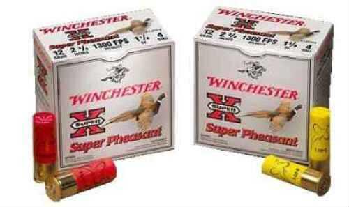 "Winchester Super Pheasant Lead 12 Ga. 2 3/4"" 1 1/4 oz #4 Lead Sho 25 Rounds Per Boxt Ammunition Case Price 250 A12P4"