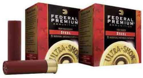 "Federal Ultra Shok 12 Gauge 3"" 1 1/4 oz #BBB Steel Shot 25 Rounds Per Box Ammunition Md: PW142BBB"