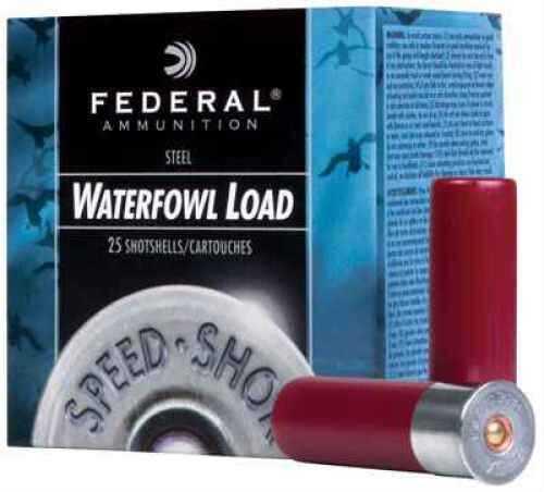 "Federal Cartridge Speed Shok Waterfowl 12 Ga. 2 3/4"" 1 1/8 oz #4 Steel Shot 25 Rounds Per Box Ammunition Case Price 25 WF1474"
