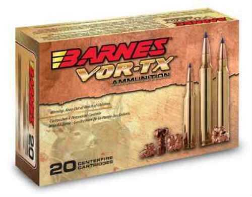 Barnes VOR-TX 243WIN 80 Grain Tipped Triple Shock X Boat Tail Lead Free 20 Round Box 21522