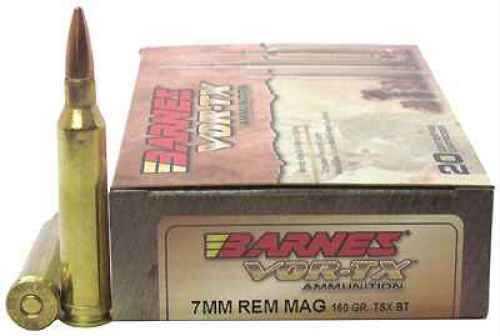 Barnes Bullets VOR-TX 7mm Remington Magnum Per 20 TSX-BT, 160gr 21529