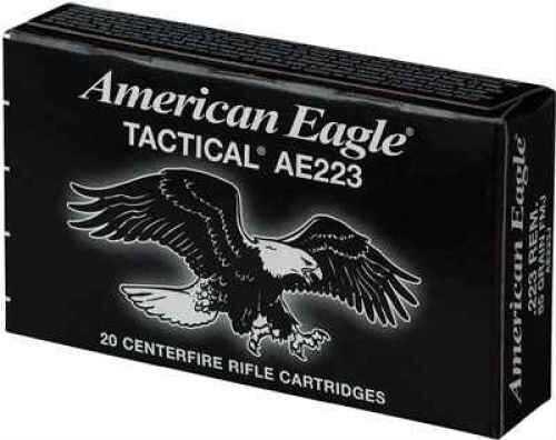 Federal American Eagle 223 Rem 55 Grains Full Metal Jacket Boat Tail Lake City 20 Round Box AE223J
