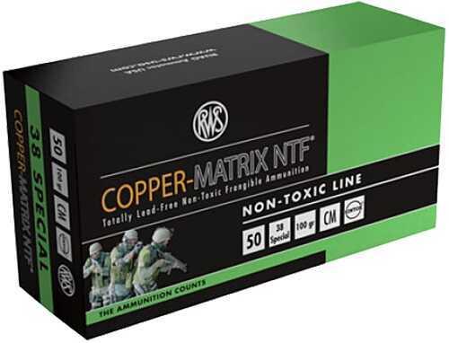 Ruag Ammotec 203840050 Copper Matrix 38 Special 100 GR Non Toxic/Frangible (Per 50) CM38