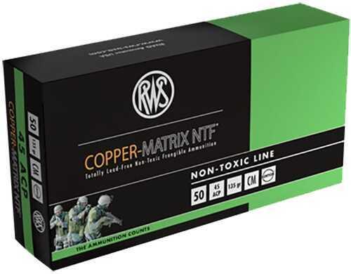 Ruag Ammotec 204540050 Copper Matrix 45 ACP 145 GR Non Toxic/Frangible (Per 50) CM45