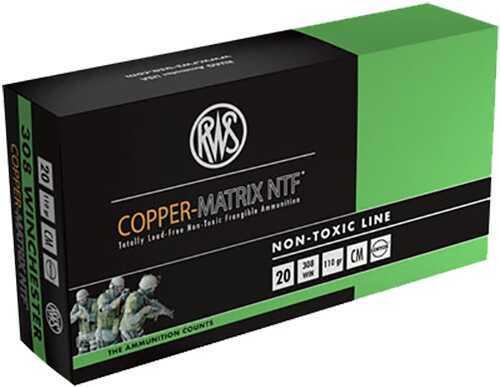 Ruag Ammotec Copper Matrix 308 Winchester/7.62 NATO Non-Toxic 110 GR (Per 20) 230840020 CM308