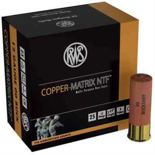 "Ruag Ammotec USA Inc Copper Matrix NTF 00 Buck/Slug 12 ga 2.7"" 25/Box CM00"