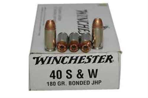 Winchester 40 S&W 180gr Jhp Bond 50 Rds Ammunition Q4369