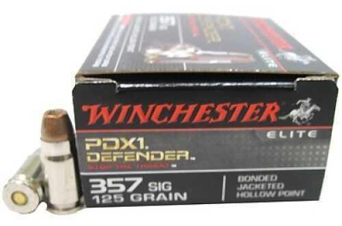 Winchester 357 Sig 125 Gr, PDX1 Bonded/20 S357SPDB