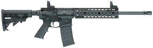 Smith & Wesson M&P15 T 5.56mm NATO 4 Rail Adjustable Stock Folding Sights 30 Round Mag Hard Coat Black Anodized Finish Semi-Automatic Rifle 811041