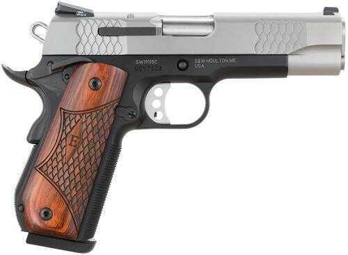 """Smith & Wesson SW1911 45ACP SC 4.25"""" Barrel 2-Tone 8 Round Semi Automatic Pistol 108485"""
