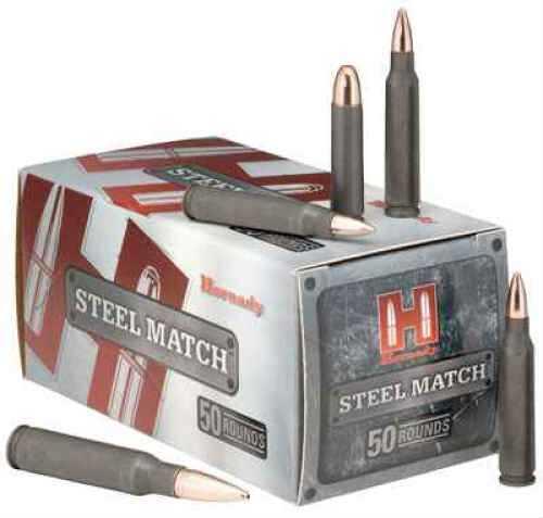 Hornady 308 Winchester by 155 Gr, BTHP Steel Match/50 80926