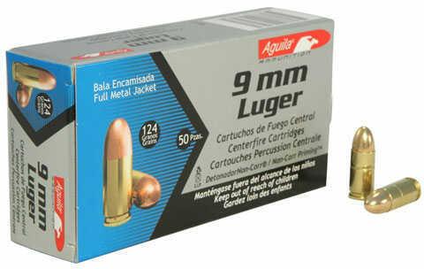 Aguila 9mm +P 115 GR Full Metal Jacket 50 Box