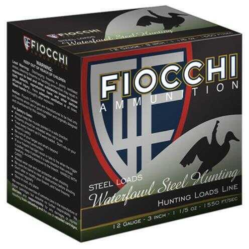 """Fiocchi Ammo 12 Gauge 3"""" 1-1/2 oz BB Shot 1 case 250 rounds 123ST15BB"""
