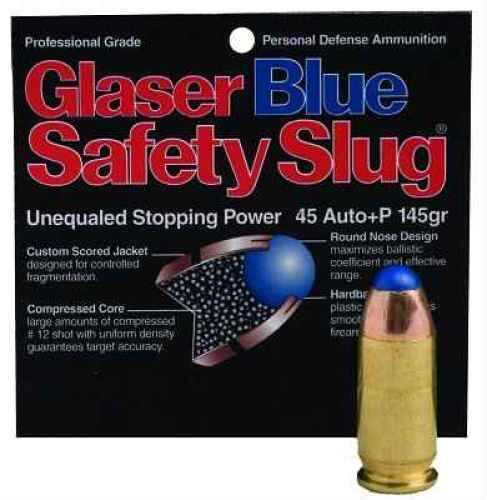Corbon Glaser Silver 45 ACP +P 145 Grain Round Nose Ammunition Md: 04800