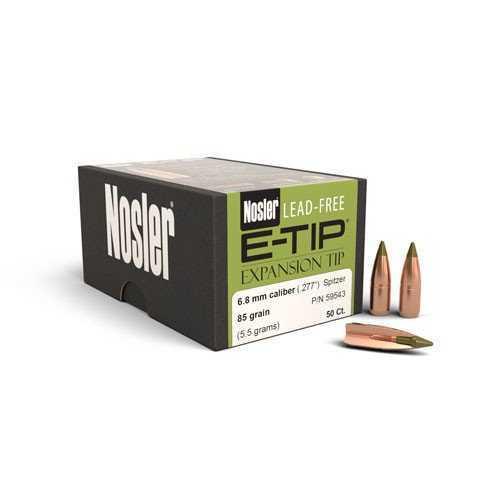 Nosler 6.8mm 85gr E-tip Lead Free (50) 59543