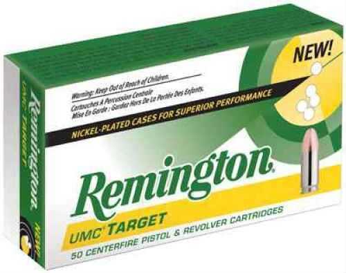 Remington 45 ACP Metal Case Round Nose 185 Grain Nickel Plated Ammunition, 50 Rounds Per Box Md: LN45AP1