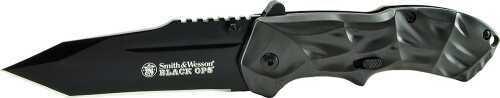 Schrade Black Ops Knife 3G,Magic Assist, Black Tanto Blade, Gray Aluminum Handle SWBLOP3T