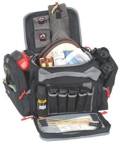 G Outdoors Inc. G Outdoors Medium Range Bag Lockable Zipper Loop Nylon Black 1411MRB
